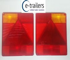 LEFT & RIGHT Radex 6800 Replacement LENS Rear Trailer Lights - IFOR INDESPENSION